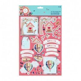 A4 Decoupage Pack Bellissima Congratulations