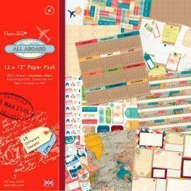 Bloc Papel Scrapbooking All Aboard