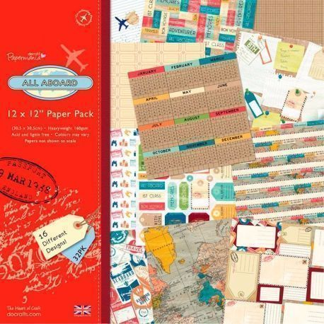 Papel Scrapbooking All Aboard