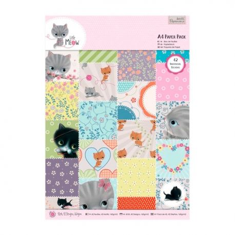 Papel Scrapbooking A4 Paper Pack Little Meow