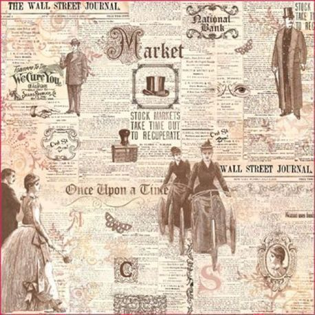 Papel Arroz Decoupage News Vintage