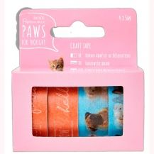 "Cinta Washi Tape Paws for Thought ""Mascotas"""